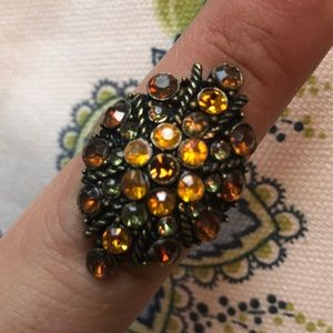 Vintage Style Fashion Jeweled Ring